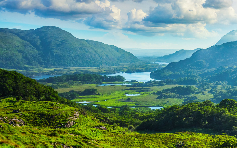 Die Seen von Killarney entlang des Ring of Kerry in Irland.