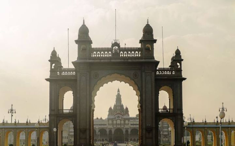 Der Maharadscha Palast in Indien.