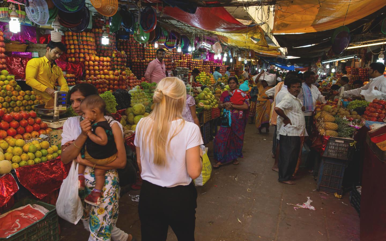 Ein indischer Markt.
