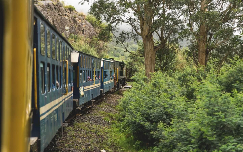Unsere Reise mit dem Zug nach Cochin.