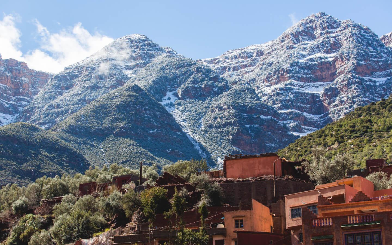 Ein Dorf im Atlasgebirge in Marokko.