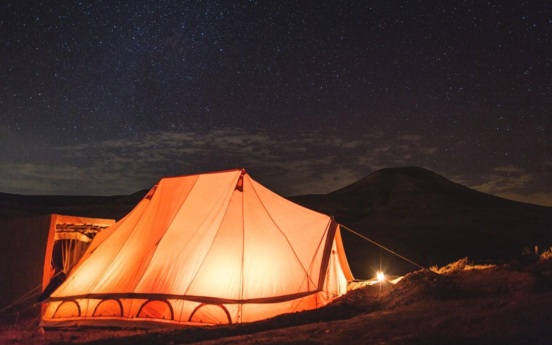Hier haben wir im Zelt im Berber Camp übernachtet.