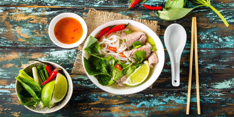 Das traditionelle Gericht der vietnamesischen Küche Pho Bo.