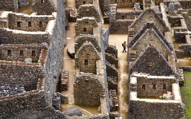 Die Ruinen von Machu Picchu.