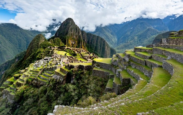 Die Ruinenstadt Machu Picchu in Peru.