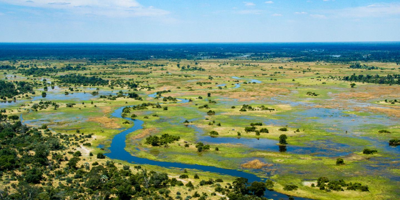 Das Okavango Delta im Öko-Reiseziel Botswana.