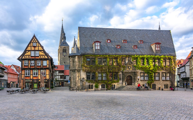 Die UNESCO-Welterbestadt Quedlinburg im Harz.