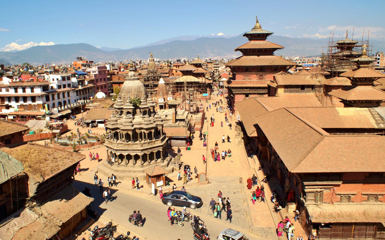 Die bekannten Tempelanlagen in Nepal.