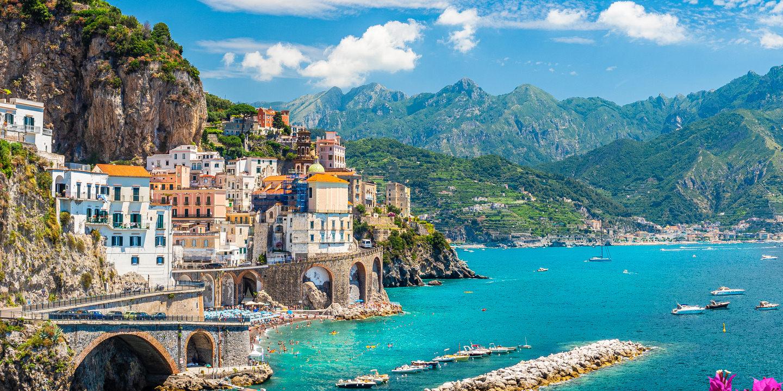 Einreisebestimmungen für Italien, hier die Amalfi-Küste.