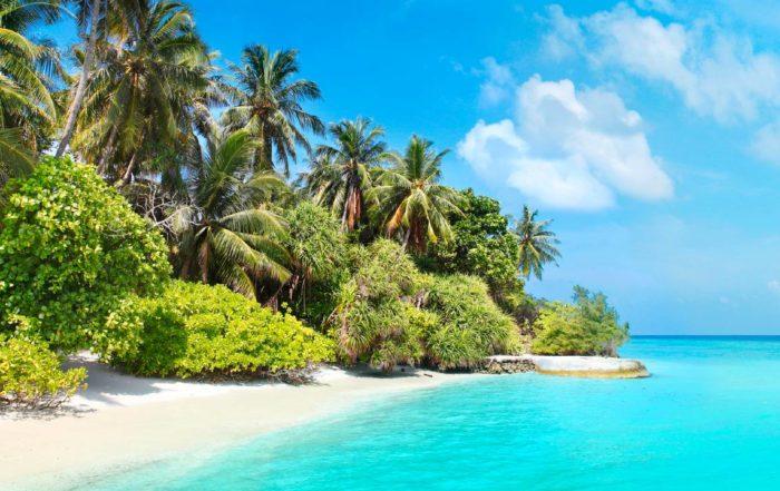 Es gibt viele gute Gründe für einen Malediven Urlaub wie diesen Traumstrand.