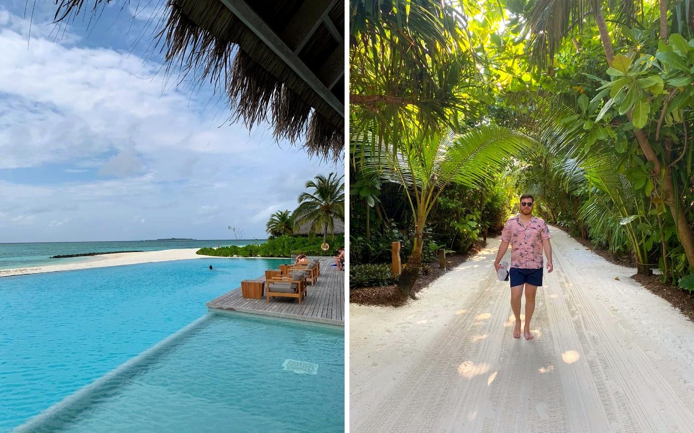Urlaub in Corona-Zeiten auf den Malediven an leeren Stränden.