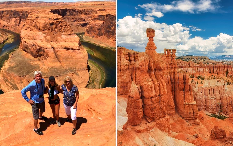 Eine Familie im Grand-Canyon-Nationalpark.