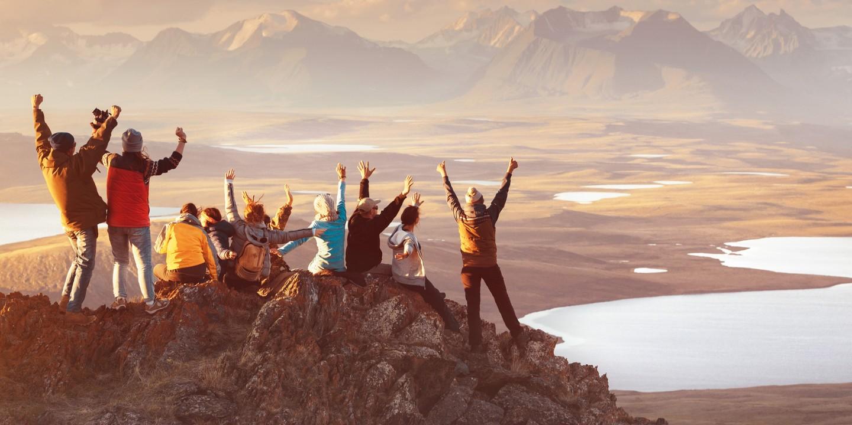 Eine Gruppenreise in den Bergen in Corona-Zeiten.
