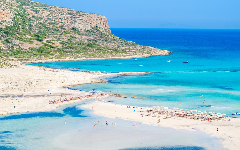 In der Lagune von Balos liegt einer der schönsten Strände Kretas.