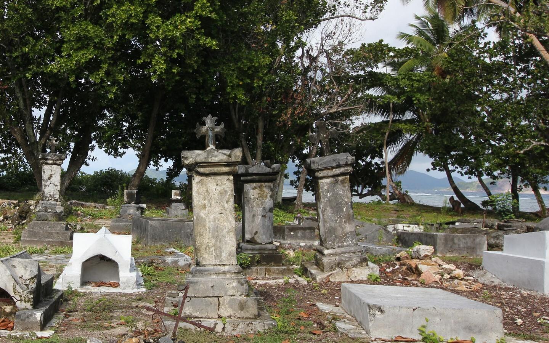 Ein Piratenfriedhof auf den Seychellen.