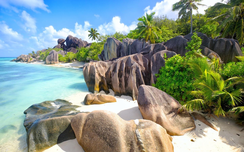 Der Anse Source d'Argent ist der schönste Strand auf den Seychellen.