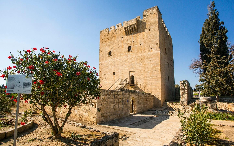 Die Mittelalterhochburg Kolossi westlich von Limassol in Zypern.