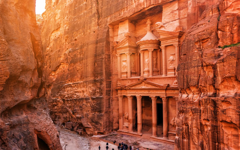 Die UNESCO-Welterbestätte Petra in Jordanien.