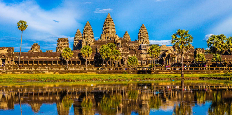 Die UNESCO-Welterbestätte Angkor Wat in Kambodscha.