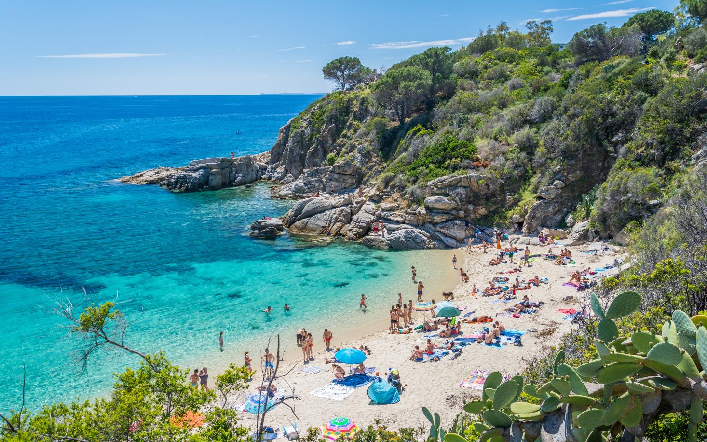Der Strand von Cavoli auf der italienischen Insel Elba.